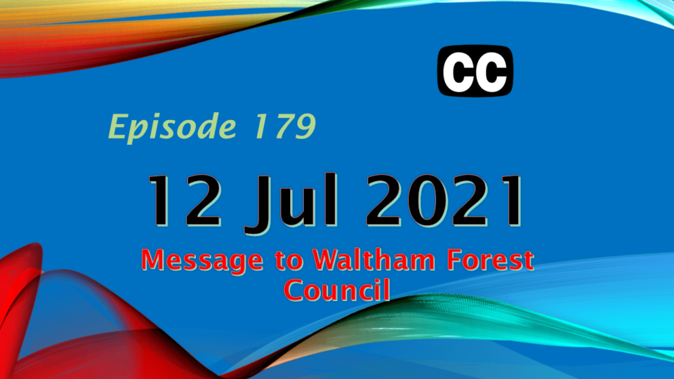 Diary - Message To Waltham Forest Council